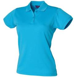 Henbury Damen Coolplus® Polo-Shirt / Polohemd, (Small) (Türkis) von Henbury