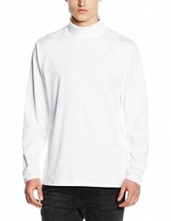 Henbury Herren Pullover Roll Neck Long Sleeved Top, Weiß, X-large (herstellergröße: X-large) von Henbury