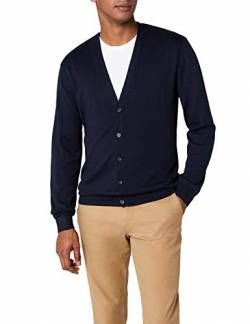 Henbury Herren Mens Lightweight V Cardigan Strickjacke, Blau (Navy), Large von Henbury
