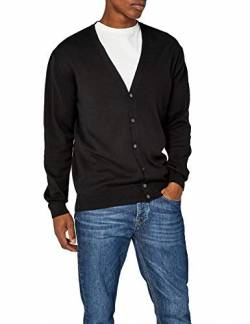 Henbury Herren Mens Lightweight V Cardigan Strickjacke, Schwarz (Black), Large von Henbury