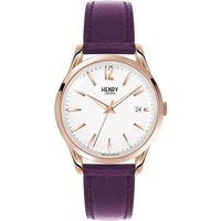 Henry London Heritage Hampstead Unisexuhr in Lila HL39-S-0082 von Henry London