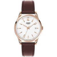 Henry London Heritage Richmond Unisexuhr in Braun HL39-S-0028 von Henry London