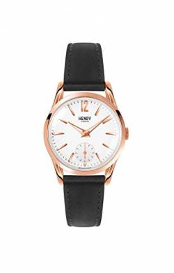 Henry London Unisex Analog Quarz Uhr mit Leder Armband HL30-US-0024 von Henry London