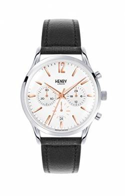 Henry London Unisex Chronograph Quarz Uhr mit Leder Armband HL41-CS-0011 von Henry London