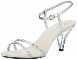 Higher-Heels PleaserUSA Sandaletten Belle-316 Silber Gr.36 von Higher-Heels