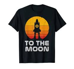 Bitcoin To The Moon BTC Rocket Crypto Currency Blockchain T-Shirt von Hodl Bitcoin Cryptocurrency Clothing