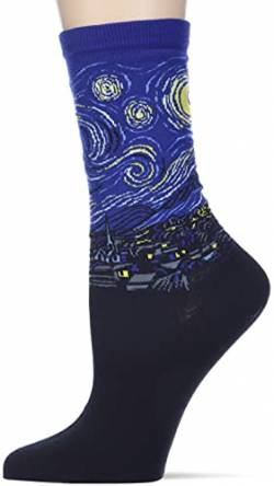 Hot Sox Van Gogh's Starry Night Royal Blue Crew Socken von Hot Sox