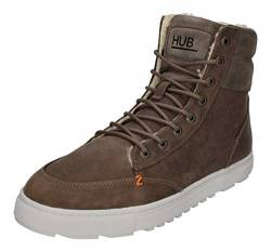Hub Dublin L47 Thumper Leather Suede Grey White 42 von Hub