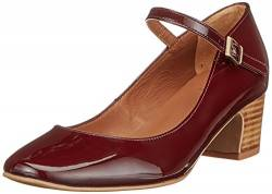 Hudson London Damen Jenna Mary Jane Halbschuhe, Violett (Bordo), 38 EU von Hudson London