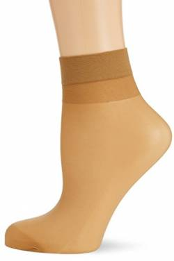 Hudson Damen Matt Fein Socken Simply 20 3er - Pack, Gr. 35/38, Beige (Make-up 0019) von Hudson