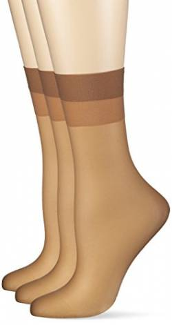 Hudson Damen 030044 Socken, 15 DEN, Beige (Make-Up 0019), 35/38 (3erPack) von Hudson