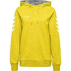 Hummel Damen Kapuzenpullover Go Cotton Hoodie Woman 203510 Sports Yellow XXL von Hummel
