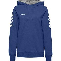 Hummel Damen Kapuzenpullover Go Cotton Hoodie Woman 203510 True Blue XL von Hummel