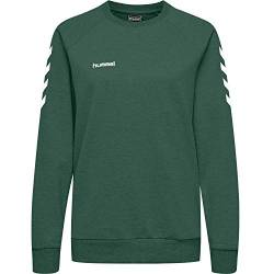 Hummel Damen Pullover Go Cotton Sweatshirt Woman 203507 Evergreen XL von Hummel