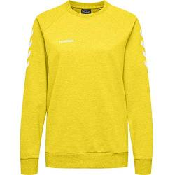 Hummel Damen Pullover Go Cotton Sweatshirt Woman 203507 Sports Yellow XS von Hummel