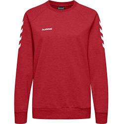 Hummel Damen Pullover Go Cotton Sweatshirt Woman 203507 True Red M von Hummel