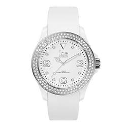 Ice-Watch - ICE star White silver - Weiße Damenuhr mit Silikonarmband - 017230 (Small) von Ice-Watch