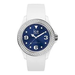 Ice-Watch - ICE star White deep blue - Weiße Damenuhr mit Silikonarmband - 017235 (Medium) von ICE-WATCH