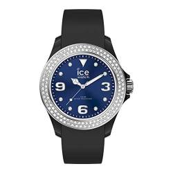 Ice-Watch - ICE star Black deep blue - Schwarze Damenuhr mit Silikonarmband - 017236 (Small) von Ice-Watch