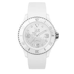 Ice-Watch - ICE crystal White silver - Weiße Damenuhr mit Silikonarmband - 017246 (Medium) von Ice-Watch