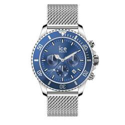 Ice-Watch - ICE steel Mesh blue - Blaue Herrenuhr mit Metallarmband - 017668 (Large) von Ice-Watch