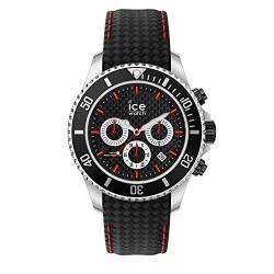 Ice-Watch - ICE steel Black racing - Schwarze Herrenuhr mit Lederarmband - 017669 (Large) von Ice-Watch