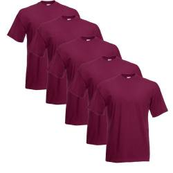 Fruit of the Loom T-Shirts 5er Pack XL,Burgund von INDIGOS UG