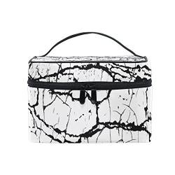 isaoa Multifunktional Make Up Tasche Scratch Grunge Urban Kulturbeutel Travel Kosmetik Aufbewahrung Taschen Pinsel-Kulturbeutel Tragbare Make-up Fall Tasche für Frauen Mädchen von ISAOA
