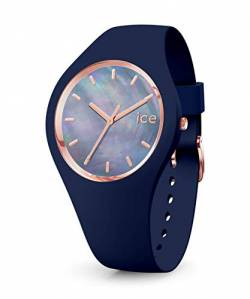 Ice-Watch - ICE pearl Twilight - Blaue Damenuhr mit Silikonarmband - 016940 (Small) von Ice-Watch