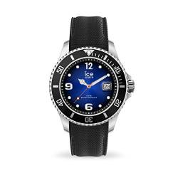 Ice-Watch - ICE steel Deep blue - Schwarze Herrenuhr mit Silikonarmband - 017329 (Extra large) von Ice-Watch