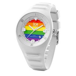 Ice-Watch - P. Leclercq Rainbow - Weiße Herrenuhr mit Silikonarmband - 017596 (Medium) von Ice-Watch