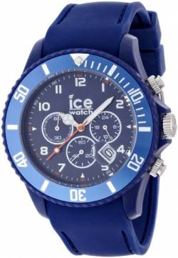 ICE-Watch Unisex-Armbanduhr IceChrono Quarz Analog Silikon Blau CHM.BE.B.S.12 von Ice-Watch