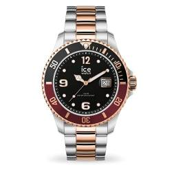 Ice-Watch - ICE steel Chic silver rose-gold - Men's (Unisex) wristwatch with metal strap - 016546 (Medium) von Ice-Watch