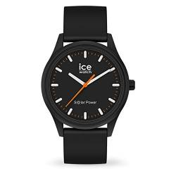 Ice-Watch - ICE solar power Rock - Schwarze Herren/Unisexuhr mit Silikonarmband - 017764 (Medium) von Ice-Watch