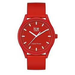 Ice-Watch - ICE solar power Red sea - Rote Herren/Unisexuhr mit Silikonarmband - 017765 (Medium) von Ice-Watch
