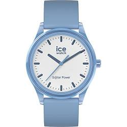 Ice-Watch - ICE solar power Rain - Blaue Herren/Unisexuhr mit Silikonarmband - 017768 (Medium) von Ice-Watch