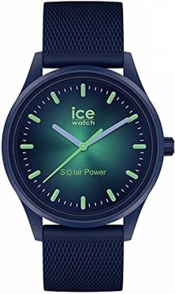 Ice-Watch - ICE solar power Borealis - Blaue Herren/Unisexuhr mit Silikonarmband - 019032 (Medium) von Ice-Watch