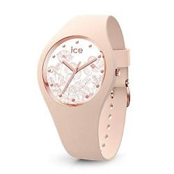 Ice Flower Damen Uhr analog Quarzwerk mit Silikon Armband IC016663 von Ice-Watch