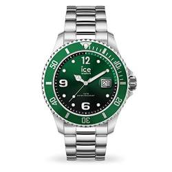 Ice-Watch - ICE steel Green silver - Men's wristwatch with metal strap - 016544 (Medium) von Ice-Watch