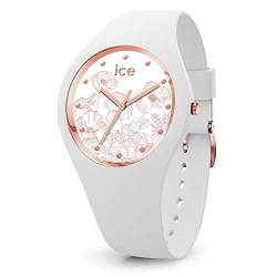 Ice-Watch - Ice Flower Spring Weiß - Damen wristwatch mit Silikonarmband - 016662 (Small) von Ice-Watch