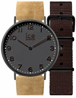 Ice-Watch - CITY Folkestone - Men's (Unisex) wristwatch with leather strap + extra nylon strap - 001360 (Medium) von Ice-Watch