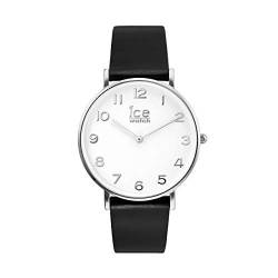Ice-Watch - CITY tanner Black Silver - Men's (Unisex) wristwatch with leather strap - 001514 (Medium) von Ice-Watch