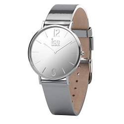 Ice-Watch - CITY sparkling - Metal Silver - Women's wristwatch with leather strap - 015083 (Extra small) von Ice-Watch