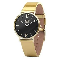 Ice-Watch - CITY sparkling - Metal Gold - Women's wristwatch with leather strap - 015090 (Small) von Ice-Watch