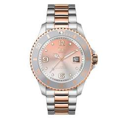 Ice-Watch - Ice Steel Silver Sunset rose-gold - Silbergraue Damenuhr mit Metallarmband - 016769 (Medium) von Ice-Watch