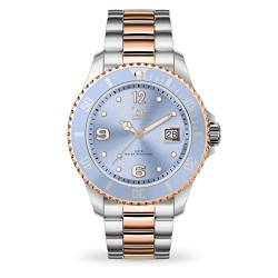 Ice-Watch - Ice Steel Sky silver rose-gold - Silbergraue Damenuhr mit Metallarmband - 016770 (Medium) von Ice-Watch