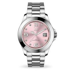 Ice-Watch - ICE steel Light pink with stones - Women's wristwatch with metal strap - 016776 (Medium) von Ice-Watch