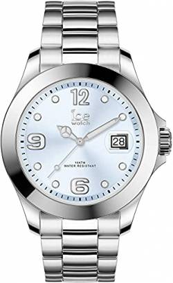 Ice-Watch - Ice Steel Light blue silver - Silbergraue Damenuhr mit Metallarmband - 016891 (Medium) von Ice-Watch