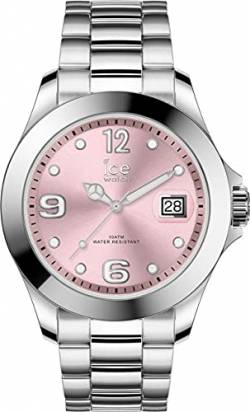 Ice-Watch - Ice Steel Light pink silver - Silbergraue Damenuhr mit Metallarmband - 016892 (Medium) von Ice-Watch