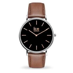 Ice-Watch - CITY classic Brown rose-gold - Men's wristwatch with leather strap - 016229 (Medium) von Ice-Watch